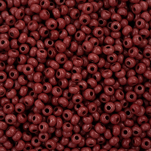 Czech Seed Beads 11/0 Terra Intensive Brown 23g Vial