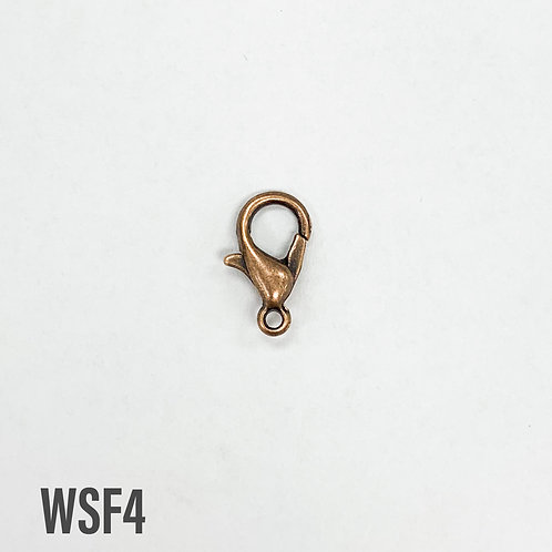 15mm Antique Copper Lobster Clasp