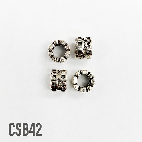 925 Circles And Squares Spacer Bead 7mm