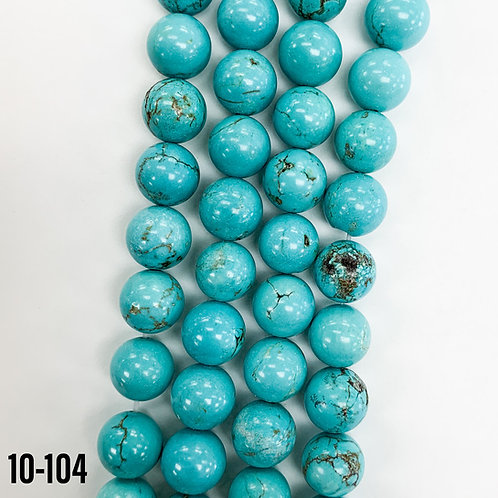 Natural Xinjing Turquoise Beads 6mm