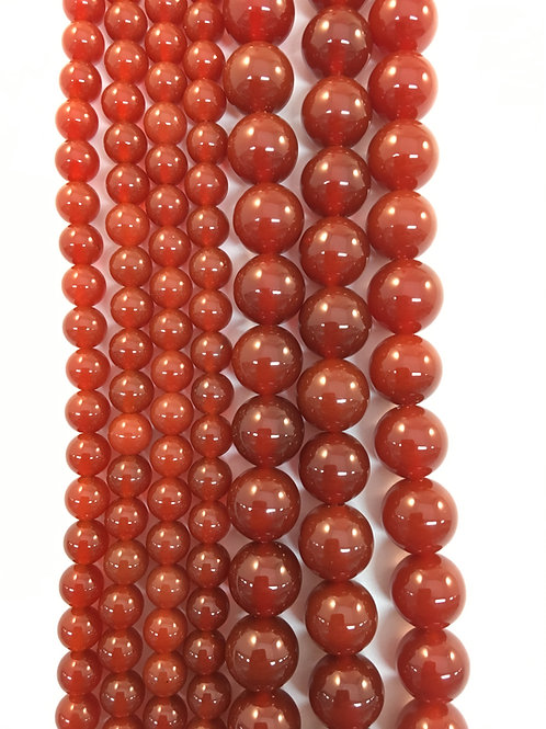 Natural Carnelian Agate Beads 10mm