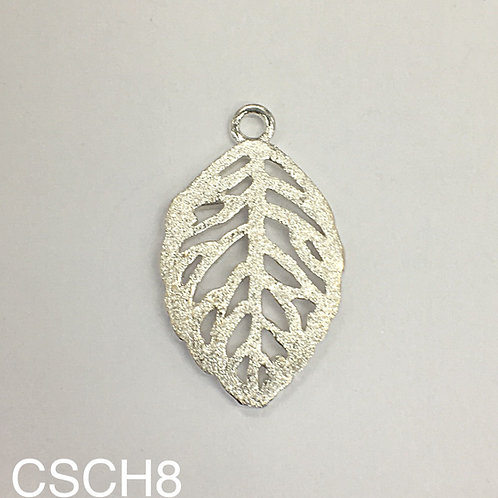 925 Dusted Silver Leaf Charms