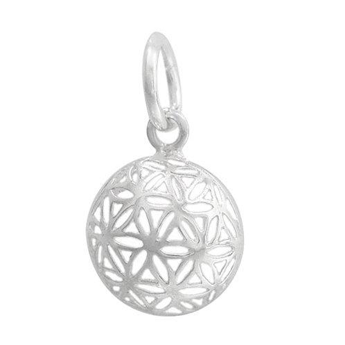925 Dome Shape Flower Of Life Charm