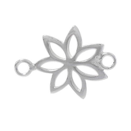 925 Flower Shape Connector With 3mm Loop