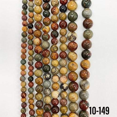 Natural Picasso Jasper Beads 4mm