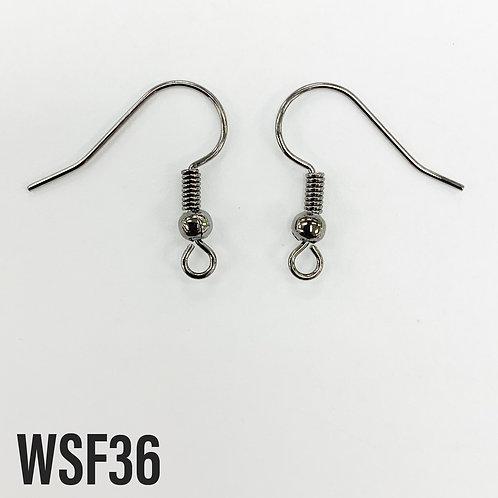 19mm L x 0.7mm T Gunmetal Shepherd Hook Earring