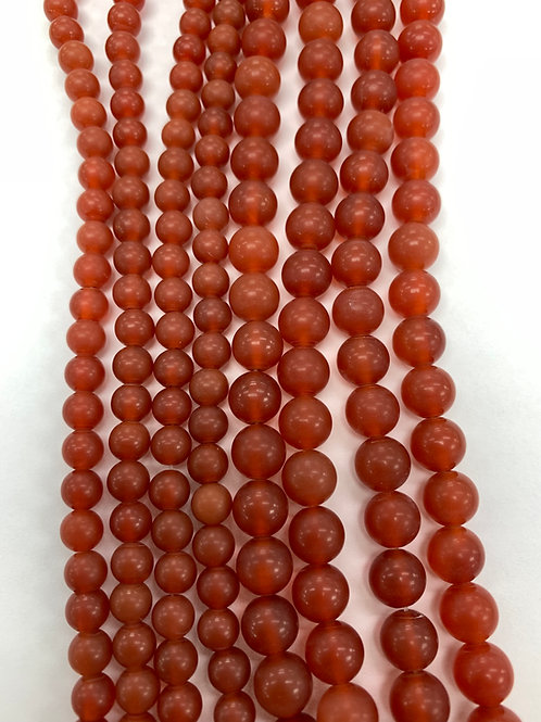 Natural Matte Carnelian Beads 6mm