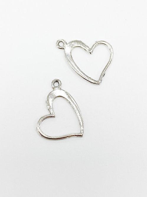 18mmL 14mmW Open Heart Charm