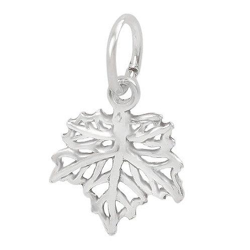 925 Smooth Maple Leaf Charm