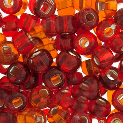 Czech Seed Beads 6/0 RED S/L MIX
