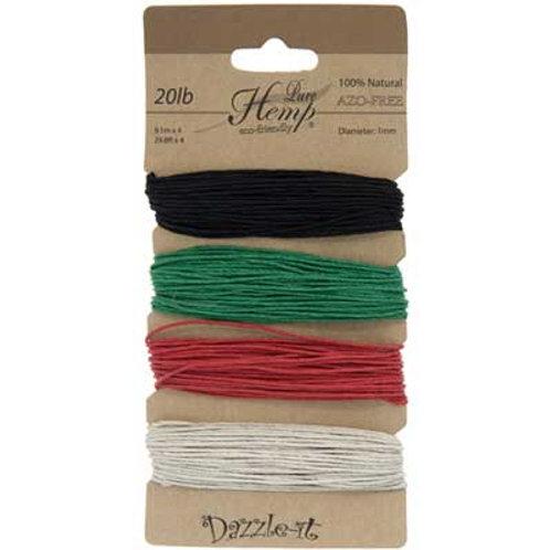 Hemp 100% 1mm 20lb Basic Colours
