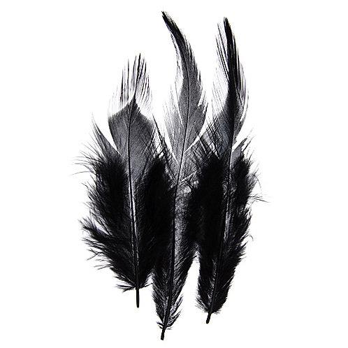 SADDLE HACKLES BLACK