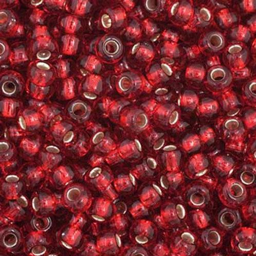 Czech Seed Beads  11/0 Medium Red S/L