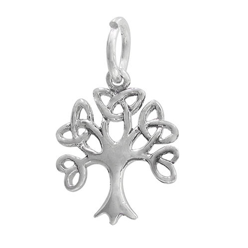 925 Celtic Tree Charm 15mm