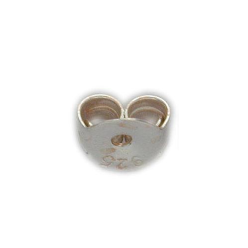 925 Butterfly Earring Backing 1mm Opening 4.5mm