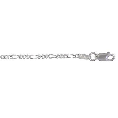 "Sterling Silver Figaro Link 18"""