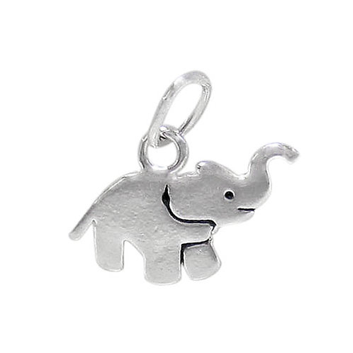 925 Elephant Charm With 5x3mm Loop