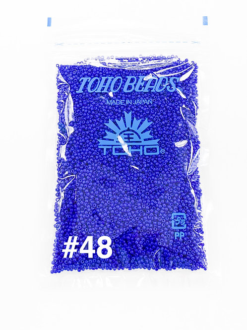 Cobalt Blue Opaque 11/0 Toho Seed Beads