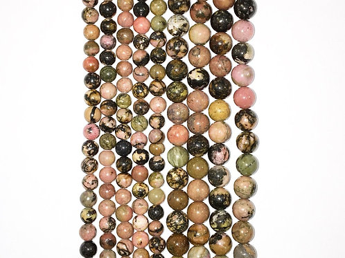 Natural Rhodanite Beads 6mm