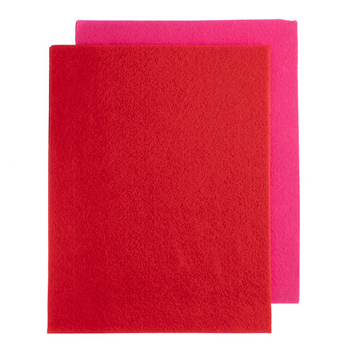 GoodFelt Beading Foundation 1.5mm 1.5mm 8.5x11in Pink/Red