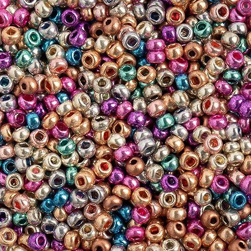 Czech Seed Beads 10/0 MET. MULTI