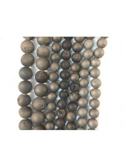 Black Druzy Beads 6mm