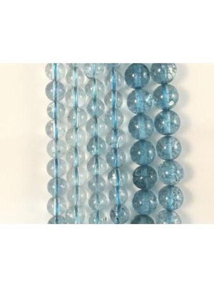 Natural-CE Blue Aura Quartz Beads 6mm