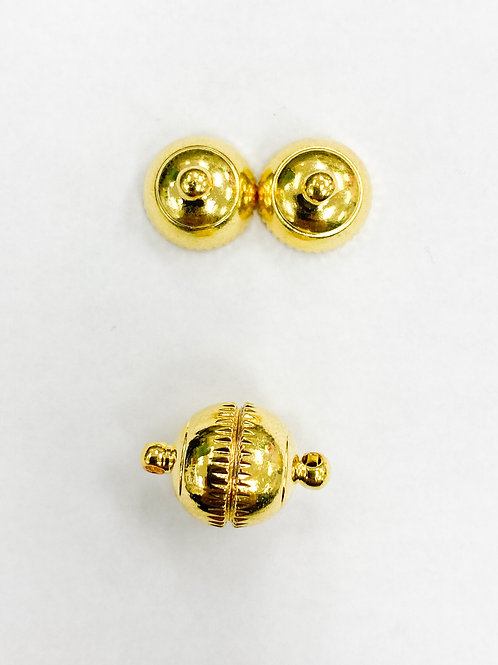 16mm Yellow Gold Magnetic Ball Clasp
