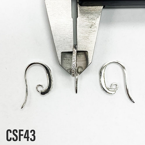 925 Fancy Ear Hooks With Sparkle Sold In Pairs