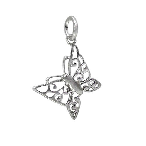 925 Fancy Butterfly Charm