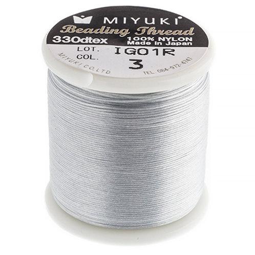 Miyuki Nylon Beading Thread B Silver