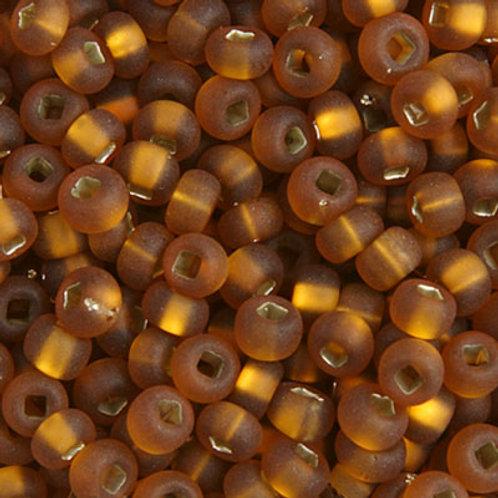 Czech Seed Beads 6/0 S/L DK TOPAZ MATT