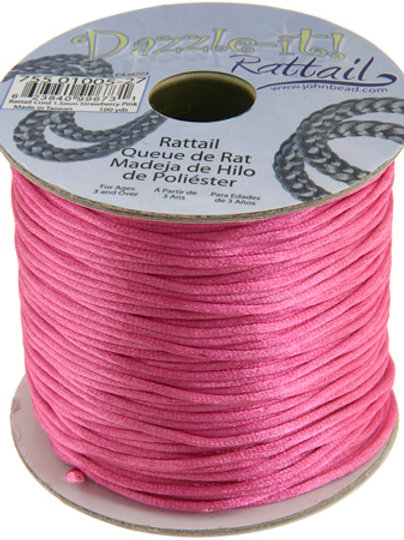 Rattail Cord 1.5mm Pink 100yds