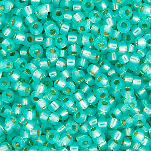 Miyuki Seed Beads  8/0 Aqua Green S/L Opal Alabaster