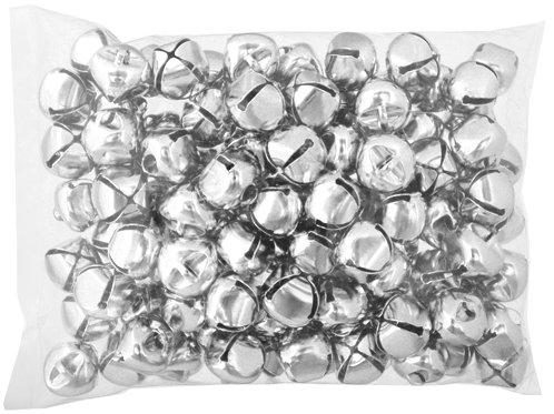 JINGLE BELLS ROUND 20mm NICKEL 100pcs