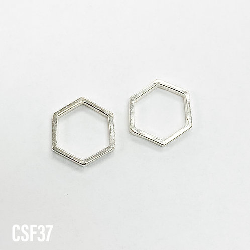 925 Hex Bead Frame 12.5mm