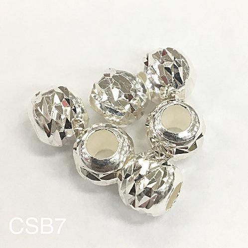 925 Laser Cut Shiny Bead7mm