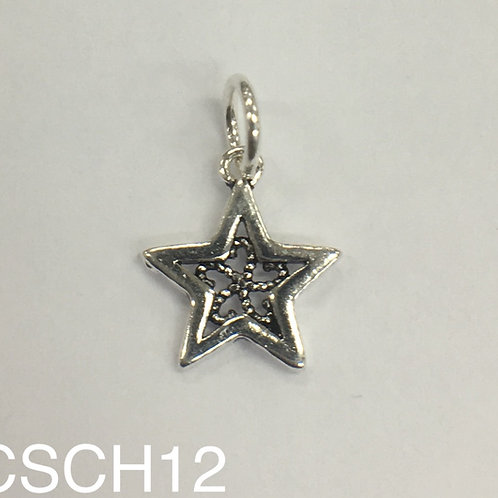 925 Star Charm 11.5mm