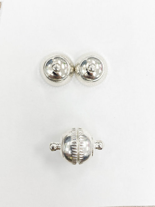 19mm Rhodium Magnetic Ball Clasp