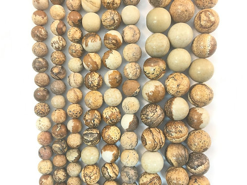 Natural Picture Jasper Beads 10mm