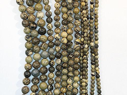 Natural Arctic Jasper Beads 4mm