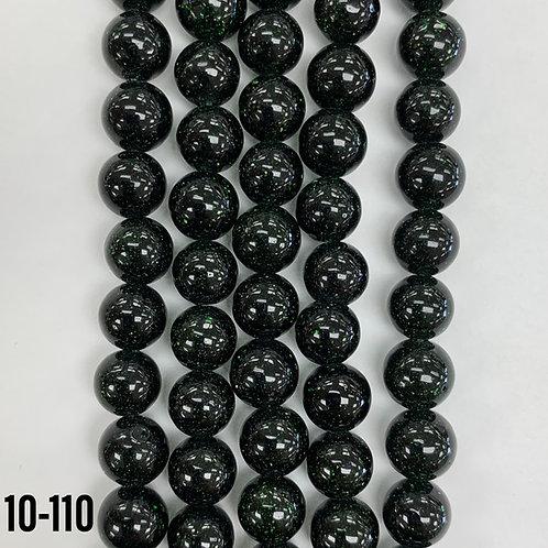 Green Sand Stone Beads (Man-made) 6mm