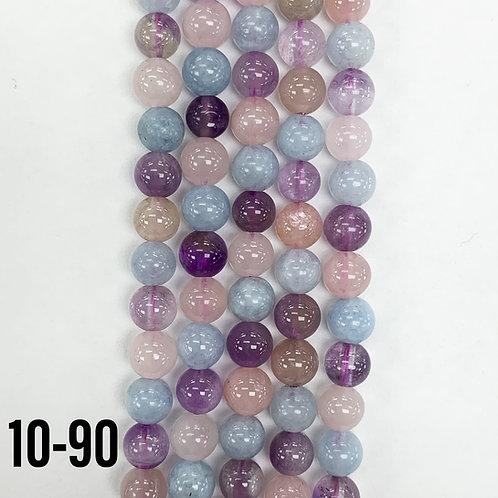 Natural Mixed Quartz Beads 6mm