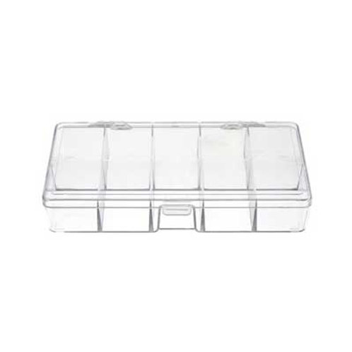Plastic Box (17.8x9.5x3cm) with 10 compartments