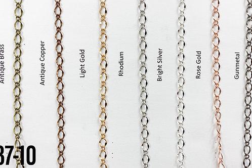 Brass Curb Linked Chain Light Gold (yard)