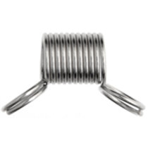 STOP-THAT-BEAD 12x10mm COIL SPRING STAINLESS STEEL