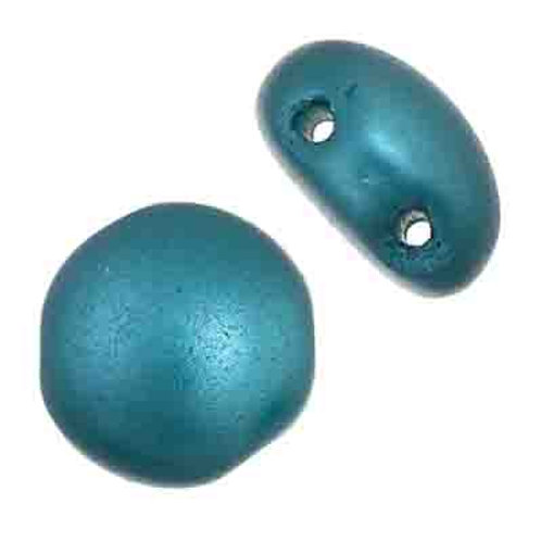 Candy Beads 8mm Teal Blue Pearl Pastel
