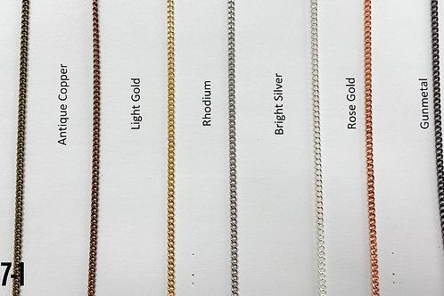 Brass 3mm Curb Chain Light Gold (yard)