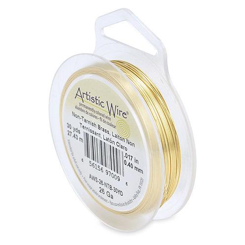 Non-Tar Brass Wire 26g 30yds