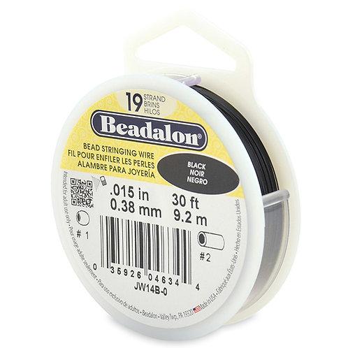 Beadalon 19 strand Black 0.015in